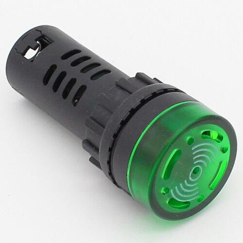 1Pcs Flash LED Lámpara Luz de advertencia señal indicador de alarma con zumbador AC//DC