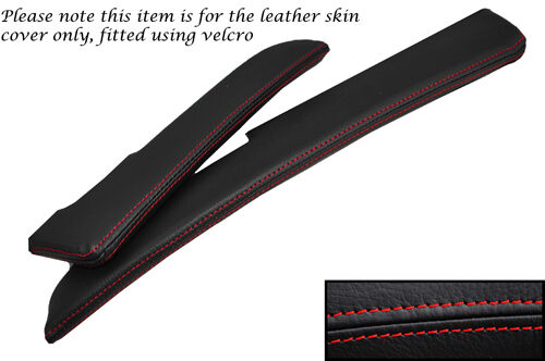 RED STITCH FITS LOTUS ELISE EXIGE S2 2001-2006 2X SUN VISORS LEATHER COVERS