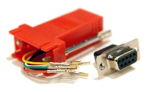red female db9 9 pin to rj11 rj12 6 conductor crimp. Black Bedroom Furniture Sets. Home Design Ideas