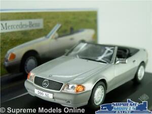 MERCEDES-Benz-500-SL-modello-auto-1-43-SCALA-1989-IXO-Cabrio-Argento-K8