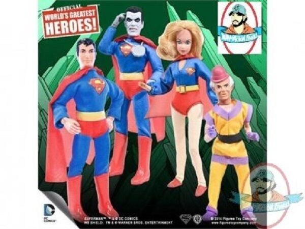 DC Retro 8  Superman Series 1 Set of 4 Figures Toy Company