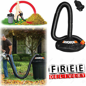 Leaf-Vacuum-Hose-8-034-Blower-Collection-System-Multi-Fit-Adapter-Lawn-Garden-New