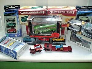 Huge-JOBLOT-21-x-1-72-Railway-scale-Diecast-Cars-Buses-vintage-Modern-mint