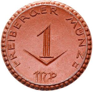 Freiberg-Muenze-1-Mark-1921-Meissen-Porzellan