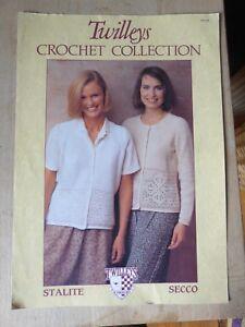 """Vintage Crochet Pattern, 1990 S, Cardigan Et Gilet, Filet Frontières, 4ply 36-44""""-afficher Le Titre D'origine"""