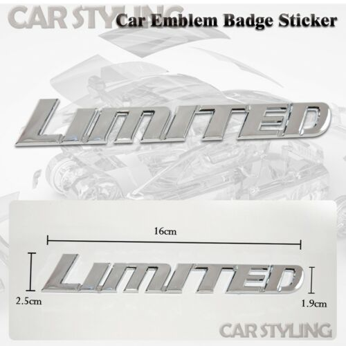 LIMITED Logo Silver Chrome Racing Rally Front Back Badge Emblem Sticker Decal