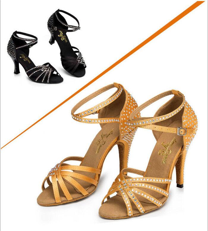 Neue Frauen Dame Latin Latin Latin Dance Schuhe Erwachsene Ballsaal Tanzschuhe Ferse 4Styles | Hochwertige Materialien  | Verpackungsvielfalt  c737d9