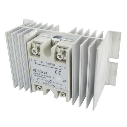 Solid State Relay SSR VolTage Resistance Regulator 25A 24-380V AC 500K Ohm X1C3