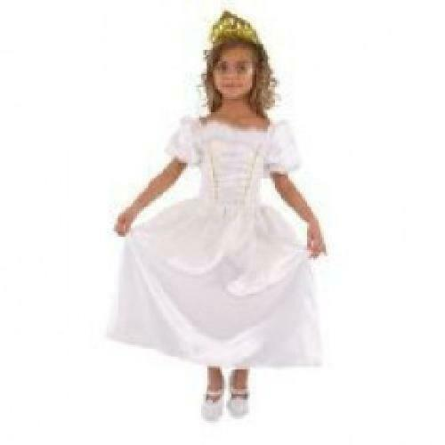 Deluxe White Bridal Princess Fancy Dress Kids Quality Costume