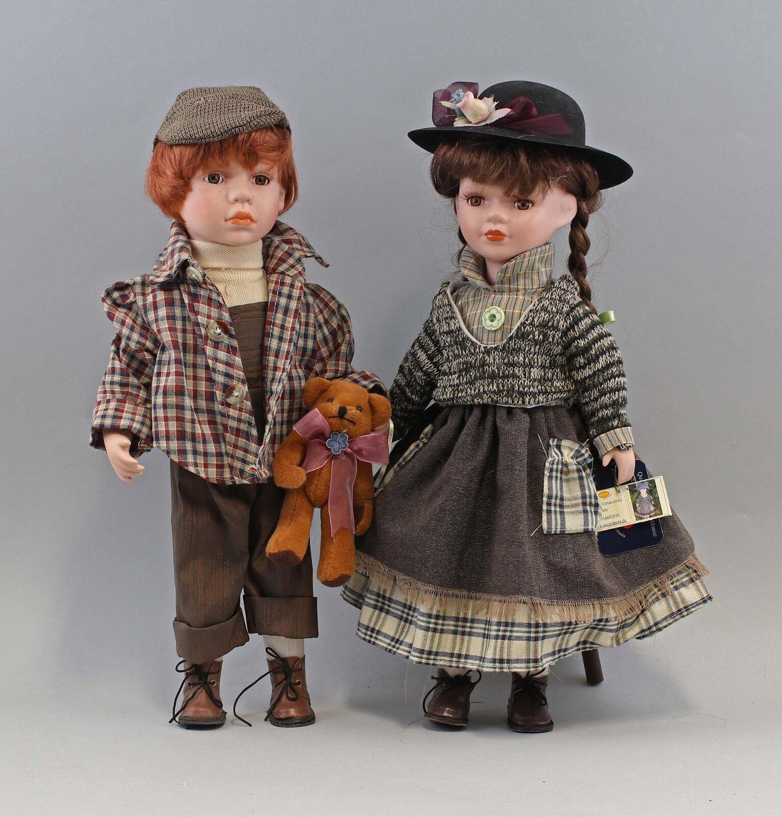 99810084 Cute Pair künstlerpuppen Bisque Head Girl Boy MAGOMORA