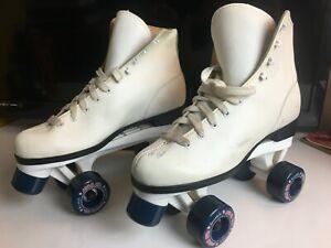 Vintage Roller Skates Women S Size 9 White Classic Quad Roller Derby Ebay
