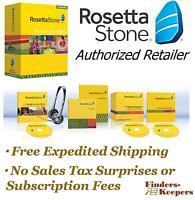 Rosetta Stone Spanish Latin America Level 1 Homeschool +headset +audio Cds