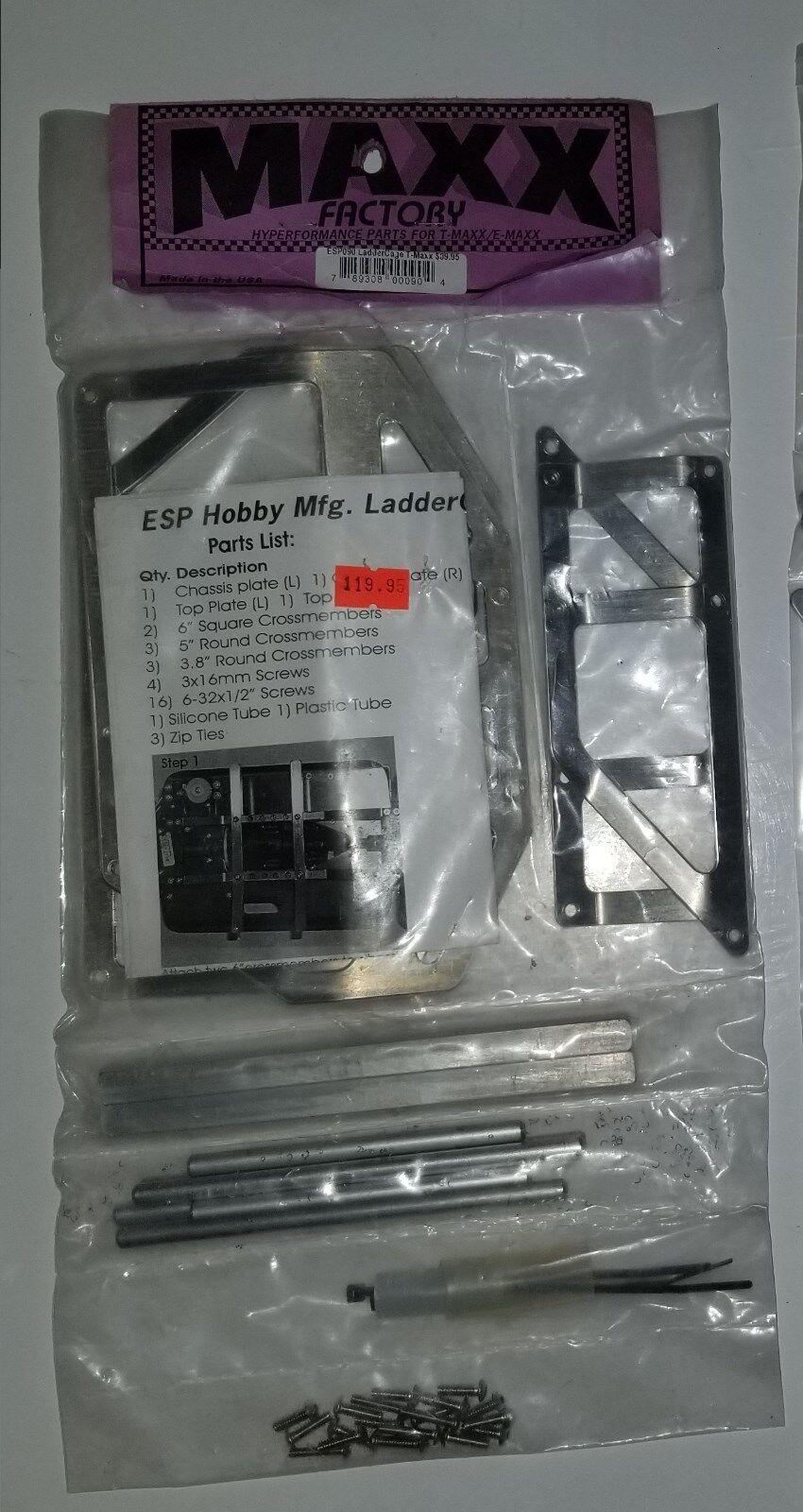 Escalera De Plata ESP Roll Cage Kit Traxxas T-maxx T-maxx T-maxx fábrica Emaxx RC camión ESP092 e 2  suministramos lo mejor