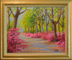 Spring-madness-Original-framed-oil-on-canvas-16-034-x20-034-painting-from-artist