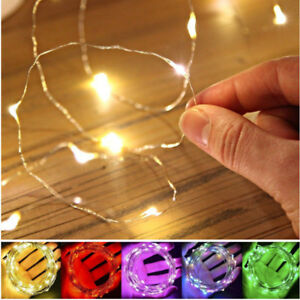 10-20-30-50-100-LED-MICRO-WIRE-STRING-FAIRY-PARTY-XMAS-WEDDING-CHRISTMAS-LIGHT