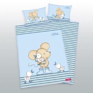 Kinder-Bettwaesche-Maus-Lillebi-Ente-100x135-40x60-cm