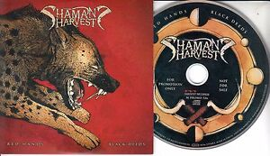 SHAMAN-039-S-HARVEST-Red-Hands-Black-Deeds-2017-UK-12-trk-promo-CD-press-release