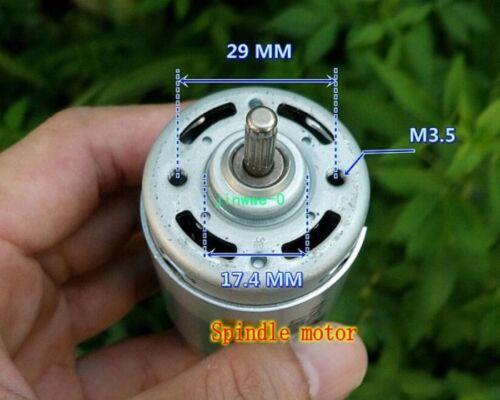 1pcs DC24V-120V 12000rpm Compensation carbon brush Motor Spindle motor