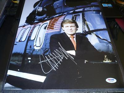Autographs-original Donald Trump Signed 11x14 Young Helicopter Photo Autographed Psa/dna Coa Cards & Papers