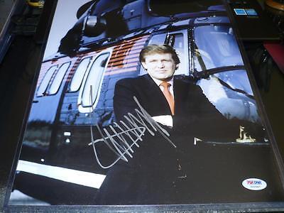 Donald Trump Signed 11x14 Young Helicopter Photo Autographed Psa/dna Coa Autographs-original Entertainment Memorabilia