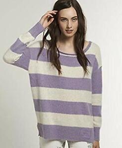 Superdry-Womens-Edie-Crew-Purple-Jumper-Sweater-Top-Size-M-NCN