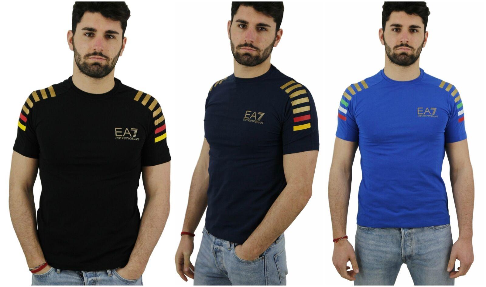 T-Shirt EA7 Emporio Armani 7 3ZPTA8 EA men Logo Cotone Maglia Slim Fit
