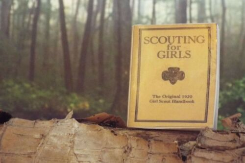 1 Mini 1920  /'Scouting for Girls Handbook/' Barbie Fashion Doll 1:6 scale OPENING