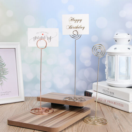 Desktop Decoration Clamps Stand Table Numbers Holder Place Card Photos Clips