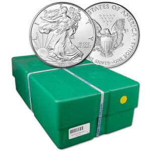 2021 American Silver Eagle 1 oz $1 - BU - Sealed 500 Coin Monster Box