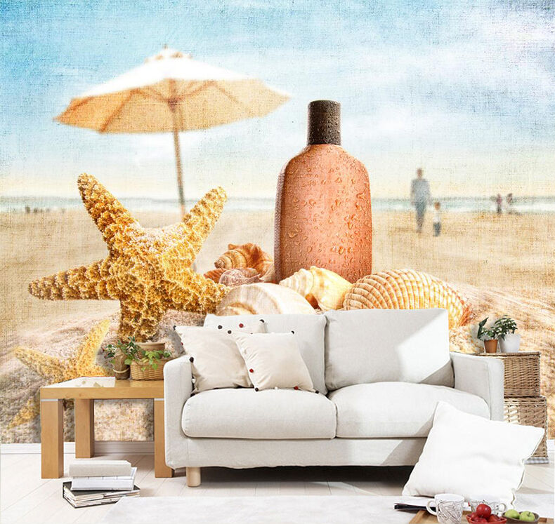 3D Beach Scenery 807 WallPaper Murals Wall Print Decal Wall Deco AJ WALLPAPER