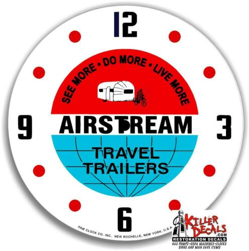 """*NEW* 14.25/"""" AIRSTREAM CAMPER TRAVEL TRAILER RD GLASS FACE FOR PAM CLOCK"""