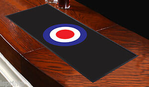 Mod Target Black Bar Runner Ideal For Any Occasion Party Pub Club Shop Home