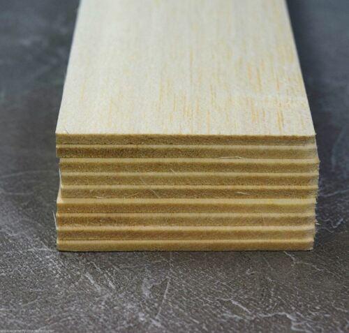 9er Pack Balsa Modellbau Naturholz WWS Balsaholz-Platten 75 x 3,2 x 305 mm
