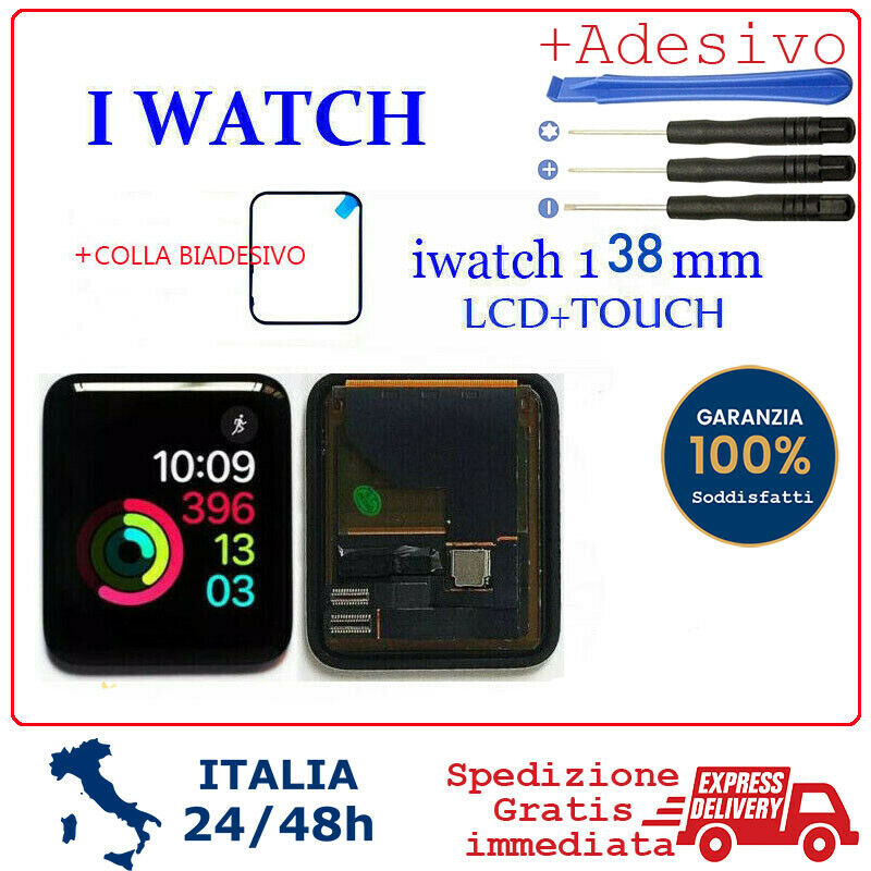 iwatch: LCD DISPLAY TOUCH COMPLETO PER APPLE WATCH 1 iwatch1 A1553 A1802 38MM series 1