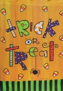 """Trick or Treat Dots Standard House Flag by Toland #3016 28""""x40"""" LAST ONE!!!"""