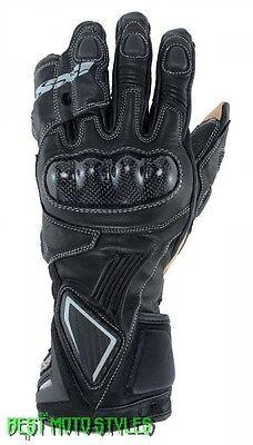 IXS KANDO EVO Herren Motorrad Racing Handschuhe Leder - schwarz Känguru-leder