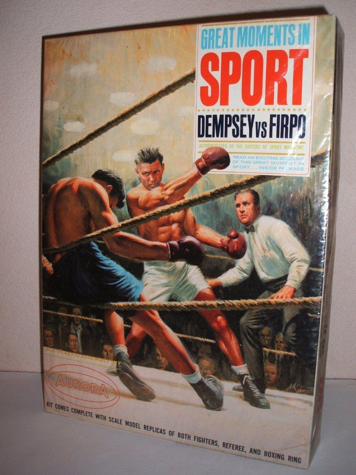 AURORA DEMPSEY VS FIRMO ORIGINALE modelloLO DI KIT FACTORY SEALATO U.S scatola 1965 RARE