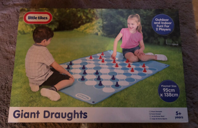 Little Tikes Giant Draughts 2 Player Board Game Outdoor Indoor Family Kids Fun For Sale Online Ebay