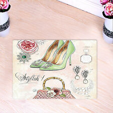 Kitchen Bath Bathroom Shower Floor Home Door Mat Rug Non-Slip Retro high heels