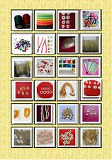 65 pcs Silk Thread Jewelry making kit,kundan,book,beads,jhumka base,leaf pendant