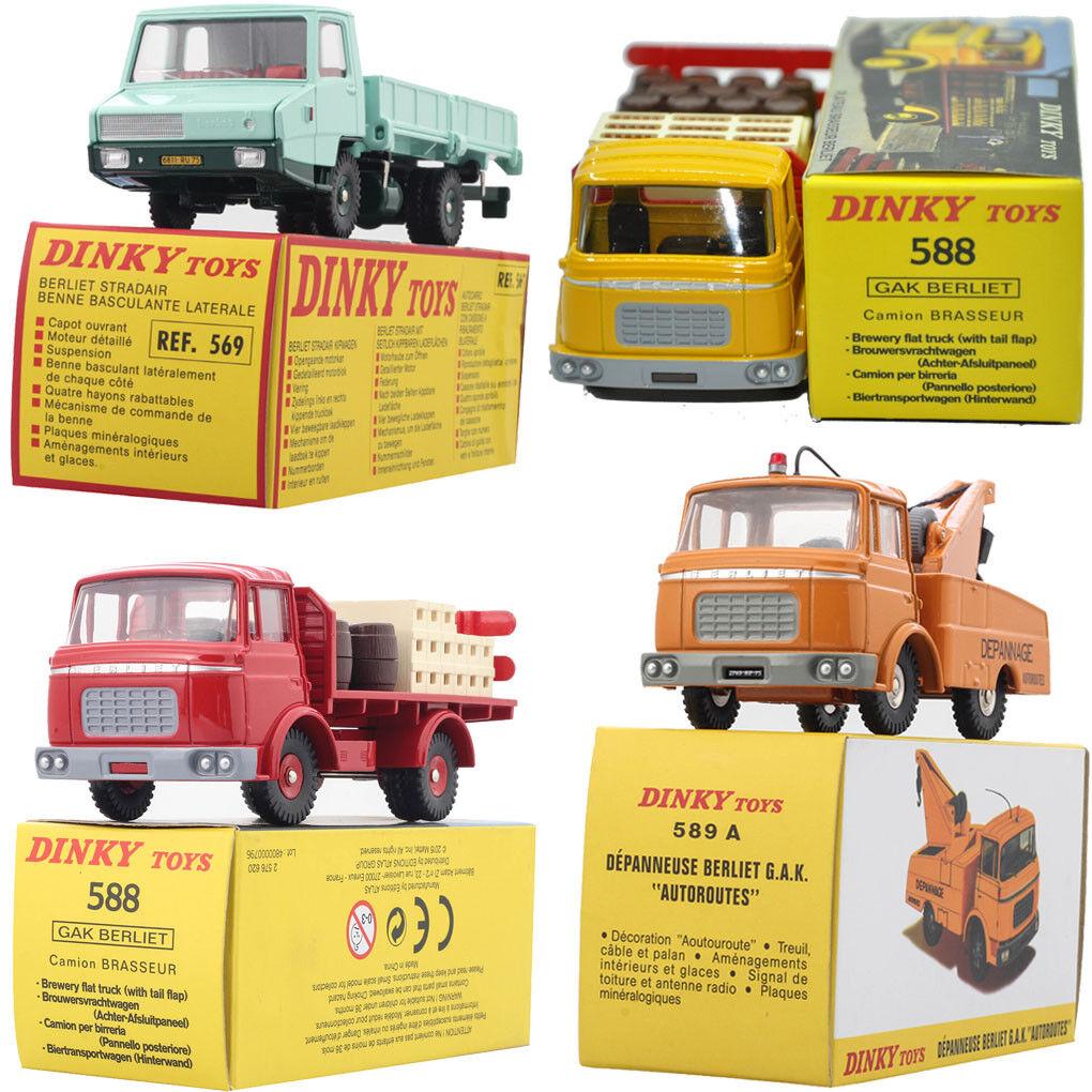 4PCS ATLAS DINKY TOYS 569+588 569+588 569+588 rojo & amarillo +589A Alloy DIECAST car model 1 43 1ba185