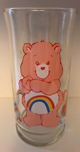 Care Bear Cheer Bear Glass Pizza Hut Collector's Series