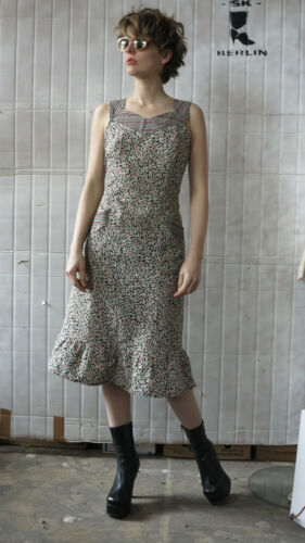 Vintage Tailor 40 Flowers Dress '80 80's True anni Ladies Summer Dress Flower Dress wq0CSAf