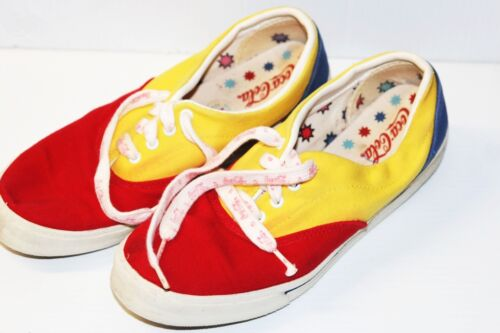 Sneakers Gelb Schuhe Blau Rot seltene Jahre 80er Coca Cola 90er Canvas Vintage Extrem 7tnxPpIqp