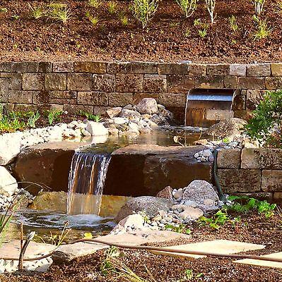 Buntsandstein Natursteinmauer Trockenmauer Hangbefestigung Gartenmauer Bachlauf