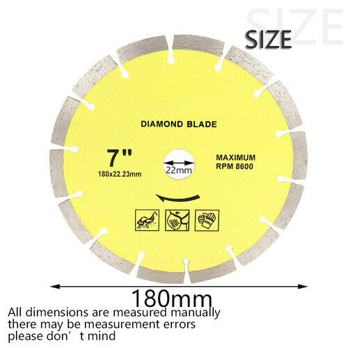 7 inch Tile Saw Blade Diamond Slotting Cutting Disc for Marble Granite Concrete