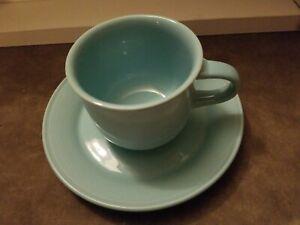 DISCONTINUED-Nancy-Calhoun-Solid-Color-LIGHT-AQUA-Cup-amp-Saucer-Set