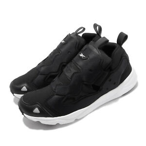 Reebok-Furylite-3-0-Black-White-Men-Running-Casual-Slip-On-Shoes-Sneakers-FU9077