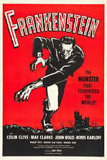 1931 FRANKENSTEIN WITH BORIS KARLOFF VINTAGE MOVIE POSTER PRINT 36x24
