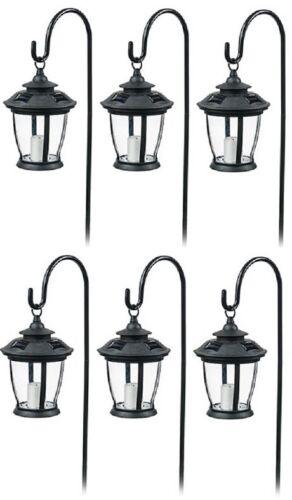 ea Four Seasons TV29960BK Black Solar Candle Lantern Pathway Lights 6